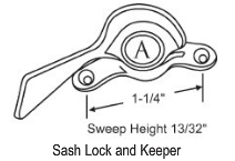 Sliding Window Sweep & Sash Locks 50-718A